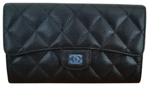 Chanel Classic Trifold Flap Caviar Long Wallet