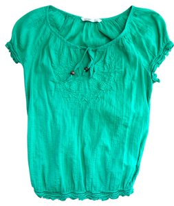 Old Navy Short Sleeve Shirt Top Green