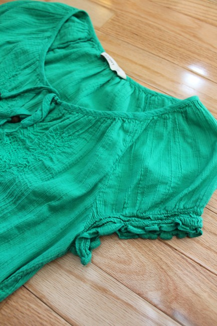 Old Navy Short Sleeve Shirt Lace Top Green