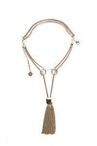Elie Saab Gold-Tone Tassel Embellished Necklace