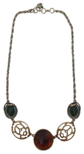 Lucky Brand Multi Stone Beetle Necklace