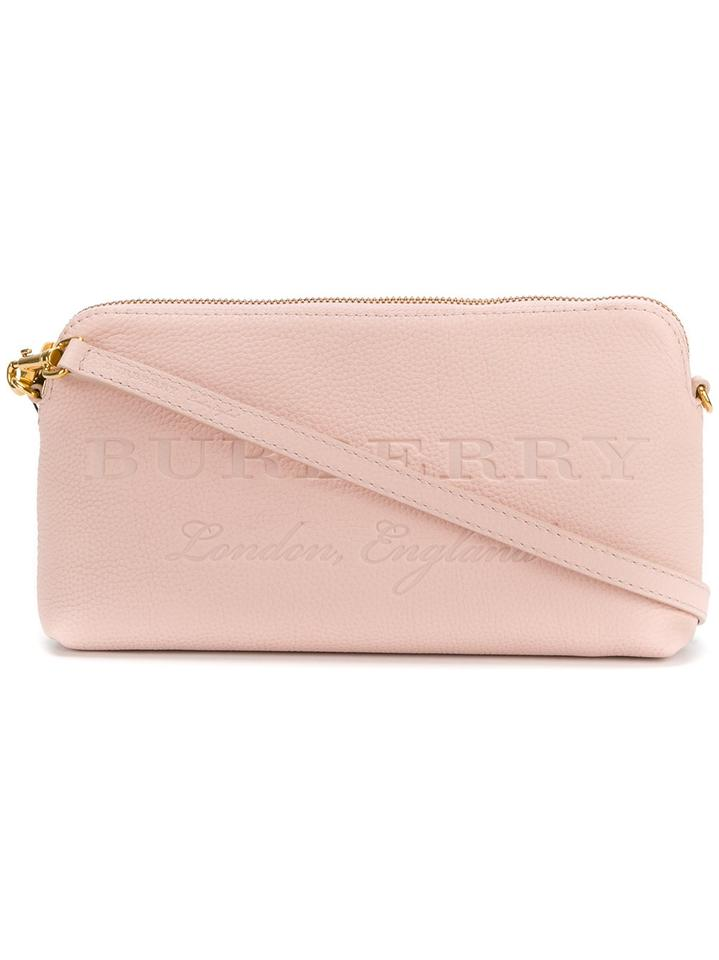 Burberry Small Abingdon Embossed Clutch New Pink Cross Body Bag ... b34ba126ebca1