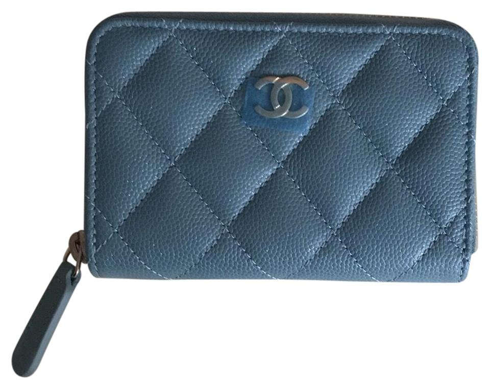 98f59ee32ea0 Chanel Chanel Iridescent Light Blue Zippy O Coin Wallet Image 0 ...
