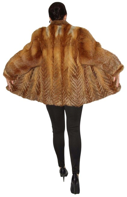 Item - Red Fox Real Fur Coat German Ex Condition Large Sale Jacket Size 14 (L)