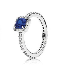 PANDORA Pandora Timeless Elegance True Blue Crystal Ring size 6