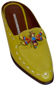Donald J. Pliner Dragonfly Green Mules