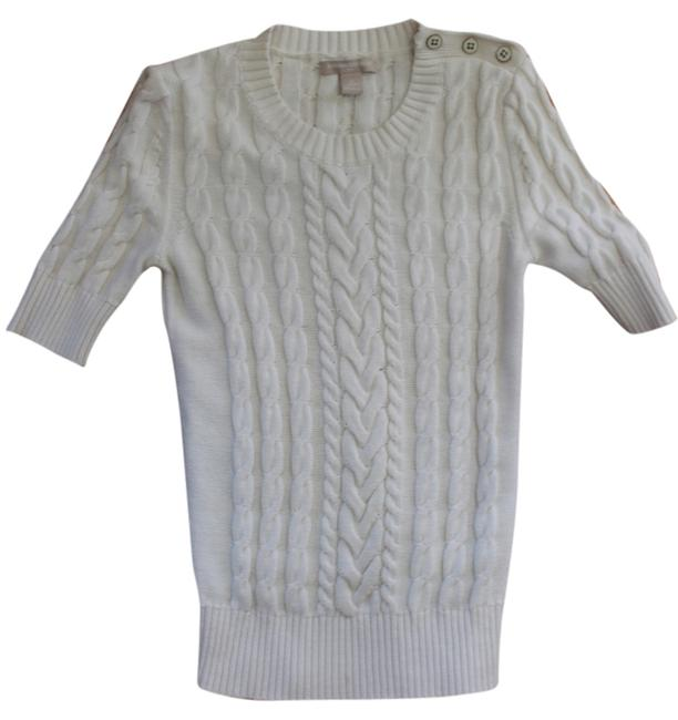 Banana Republic Quarter Sleeves Sleeves Cable Knit Casual Wear Sweater