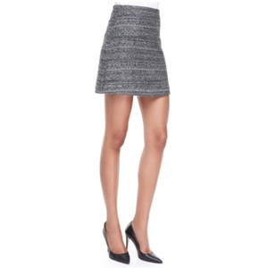Tory Burch Mini Skirt Black and Silver