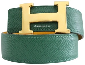 Herms Auth. Hermes 32MM/85CM Constance Reversible Belt Kit Gold Buckle