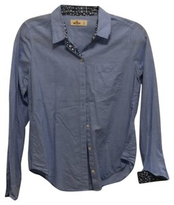 Hollister Button Down Shirt Light Blue