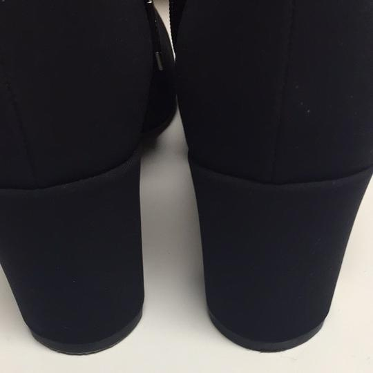 Donald J. Pliner Black Fabric Boots