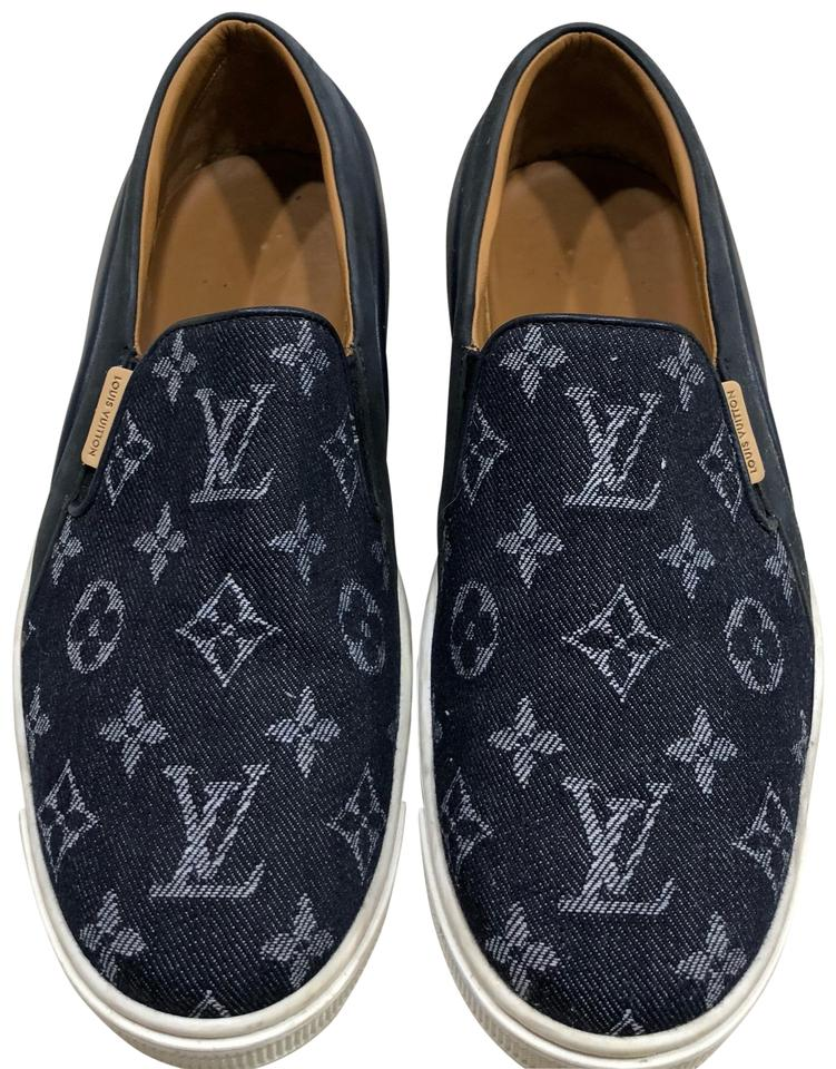 5063960c739 Louis Vuitton Blue Men's Denim Slip-on Sneakers Flats Size EU 40 (Approx.  US 10) Regular (M, B) 57% off retail