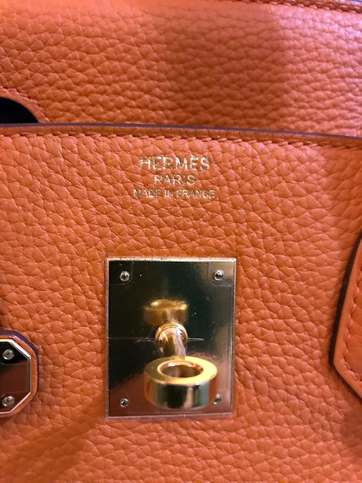 Hermès Birkin 30 93 Clemence with Gold Hardware Orange Leather Tote -  Tradesy be1303ee97432