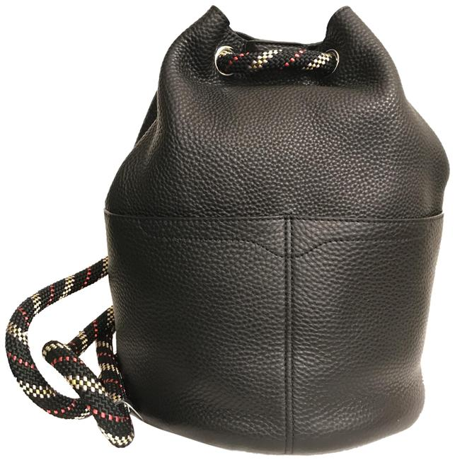 Item - New Colored Climbing Rope Black Multi Leather Backpack