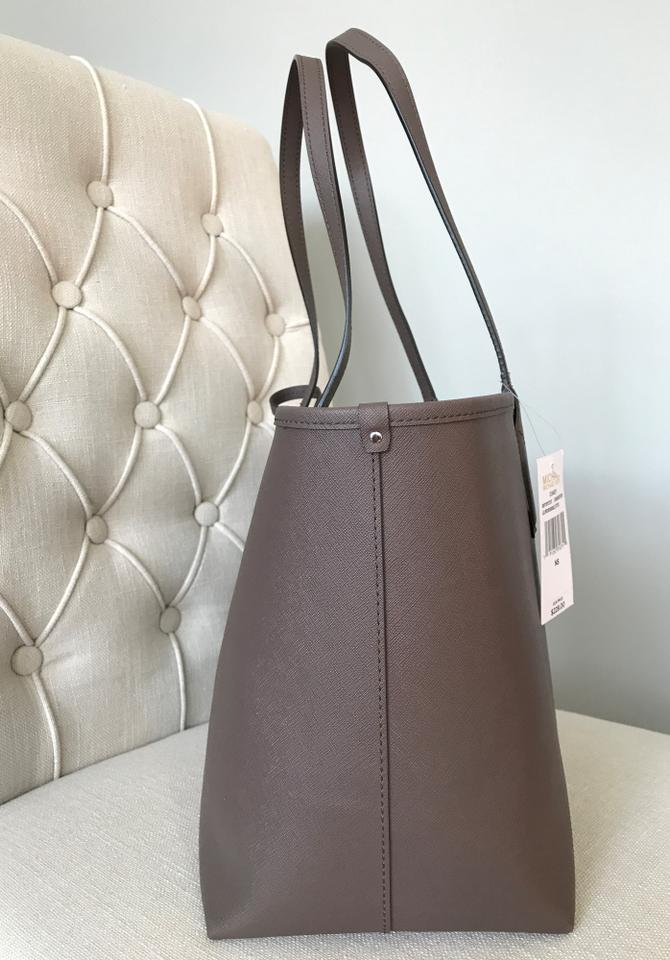 446363615516 Michael Kors Candy Reversible with Pouch Cinder Ecru Coated Canvas ...