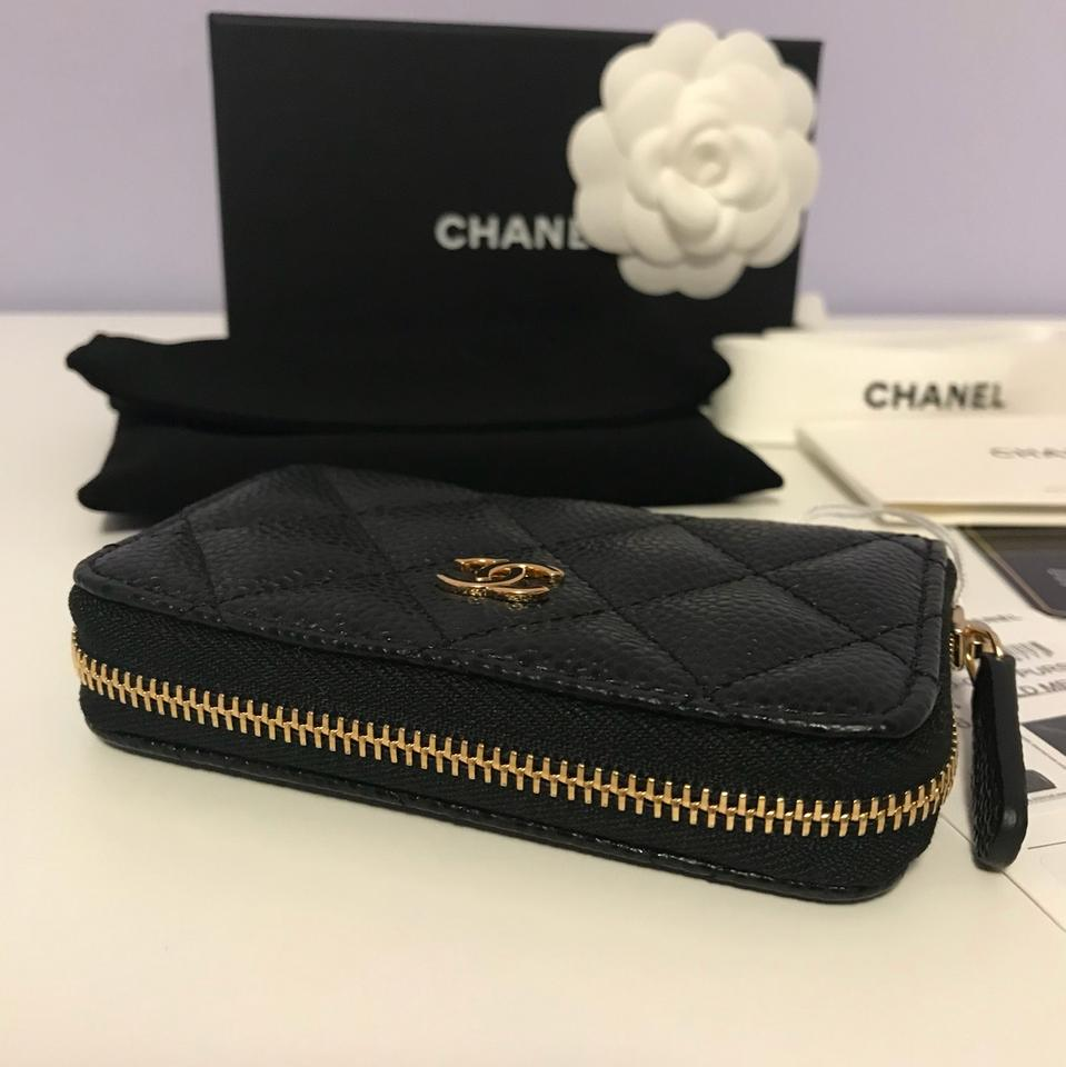 d88fe20d9b1f Chanel Brand New Classic Caviar Leather Quilted Zip Coin Purse Image 11.  123456789101112