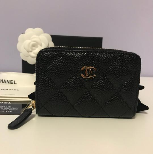 7c9009948499 Chanel Black Classic Caviar Leather Quilted Zip Coin Purse Wallet - Tradesy