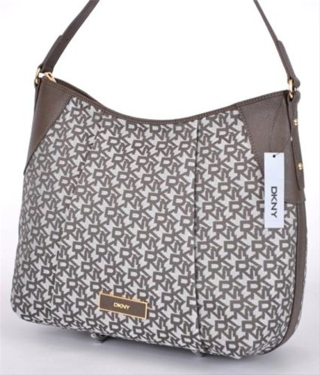 DKNY Donna Karan Saffiano Tc Signature Zip Handbag Hobo Cross Body Bag