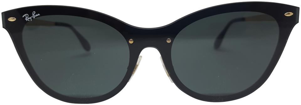 c160b52519b Ray-Ban Black Green Lens Rb3580n 043 71 Cat Eye Sunglasses - Tradesy