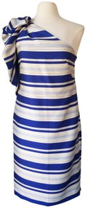 Banana Republic One-shoulder Bow Stripe Dress
