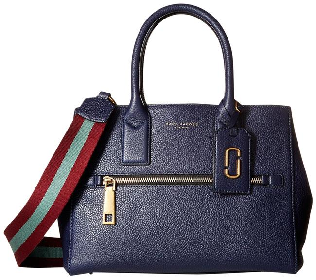 Item - Gotham Wtih Webbing Strap Blue/ Vino/Multi Midnight Blue/Vino/Multi Leather Shoulder Bag