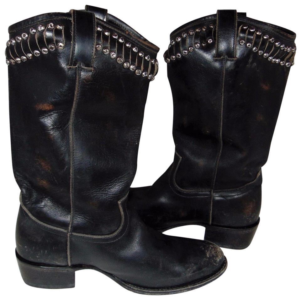 Frye Black Studded Studded Black Cut-out Diana Boots/Booties 7ea1ea