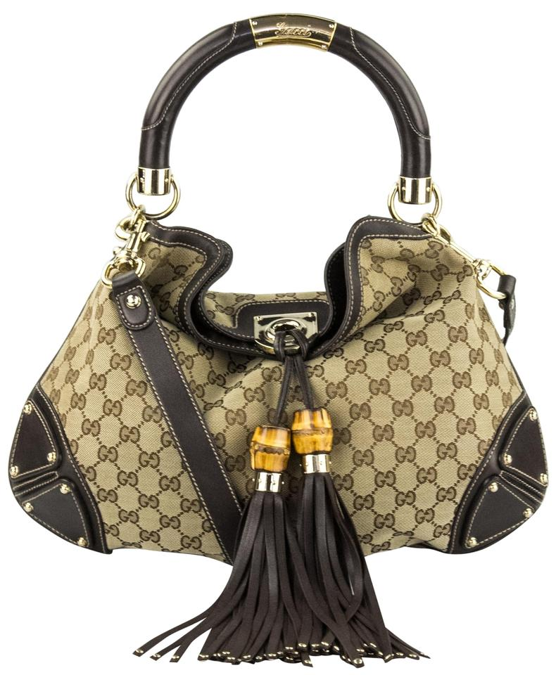 8dfe161367a Gucci Indy Medium Gg Canvas Satchel - Tradesy