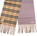 Burberry reversible castleford check cashmere scarf Image 3