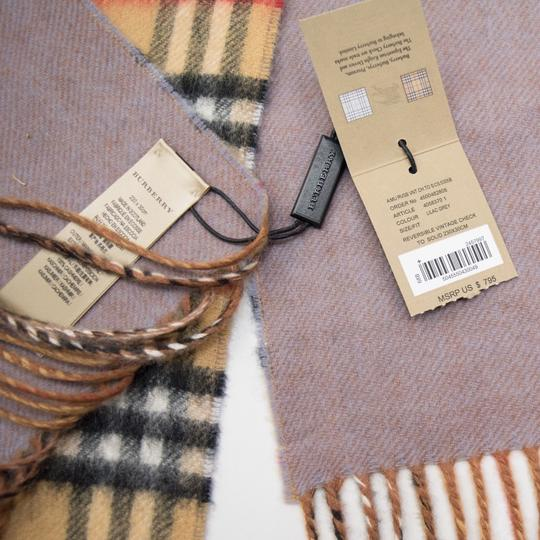 Burberry reversible castleford check cashmere scarf Image 4