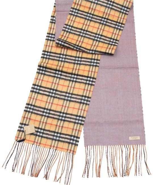 Item - Lilac Grey Reversible Castleford Check Cashmere Scarf/Wrap