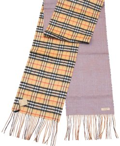 Burberry reversible castleford check cashmere scarf