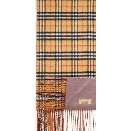 Burberry reversible castleford check cashmere scarf Image 1