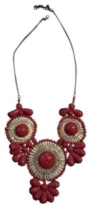 BaubleBar red and gold statement necklace