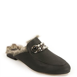 Jeffrey Campbell Leather Fur grey Flats