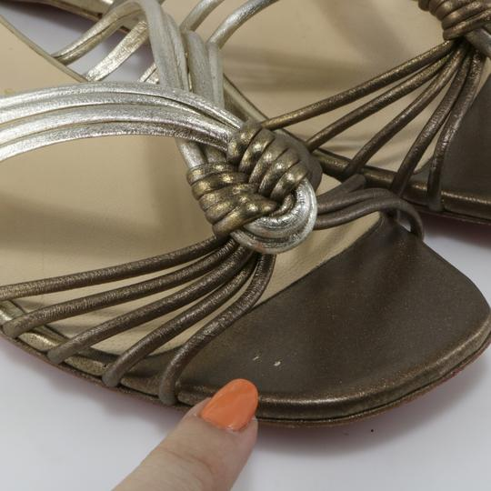 Christian Louboutin Knot Strappy Resort Version Sahara, Bronze, Copper, Champagne Sandals Image 10
