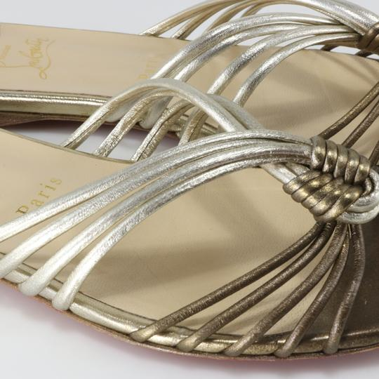 Christian Louboutin Knot Strappy Resort Version Sahara, Bronze, Copper, Champagne Sandals Image 9