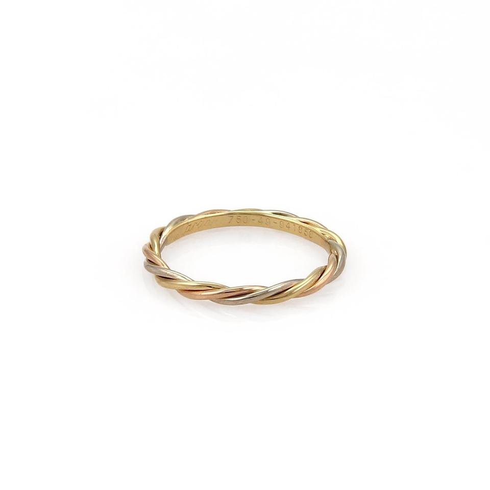 Wire Bands: Cartier Rose White & Yellow Gold 18k Tricolor Twisted Wire