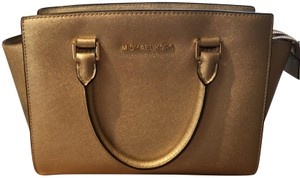 Michael Kors Collection Satchel in Gold