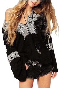 Free People Santa Maria Bohemian / Embroidery Sweater