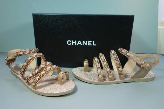 Chanel Gold Flats Image 5