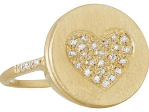 Carolina Bucci Carolina Bucci Lucky Diamond Heart 18 Karat Yellow Gold Ring