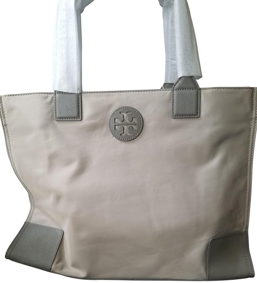 d67e37db4be1 Tory Burch Ella French Gray Nylon Tote - Tradesy