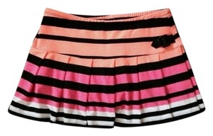 Justice Mini Skirt Pink, Orange and Black Stripe