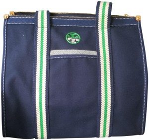 Tory Burch Tote in Navy, Green, White