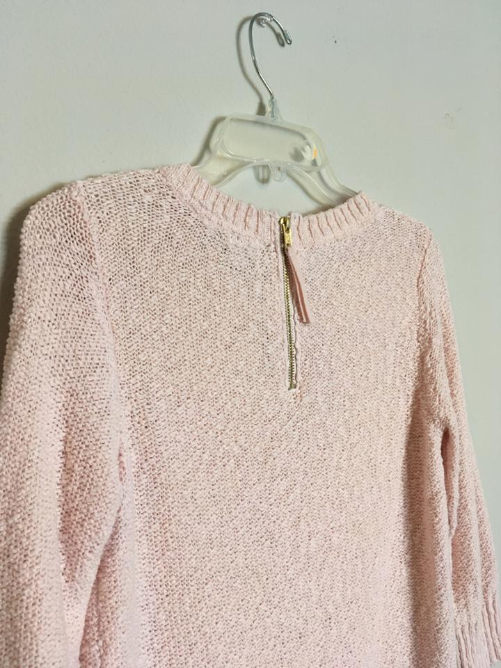 h m pink woven ribbed knit chunky sweater pullover size 8. Black Bedroom Furniture Sets. Home Design Ideas