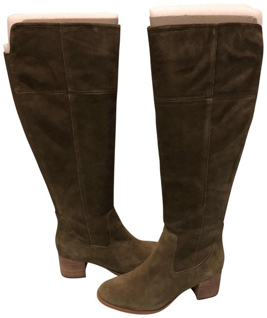 Item - Olive Epic Calf Over The Knee Boots/Booties Size US 11 Wide (C, D)