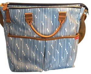 Skip Hop Blue/white Diaper Bag