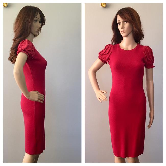 RED Valentino Formfitting Puff Sleeves Dress Image 1