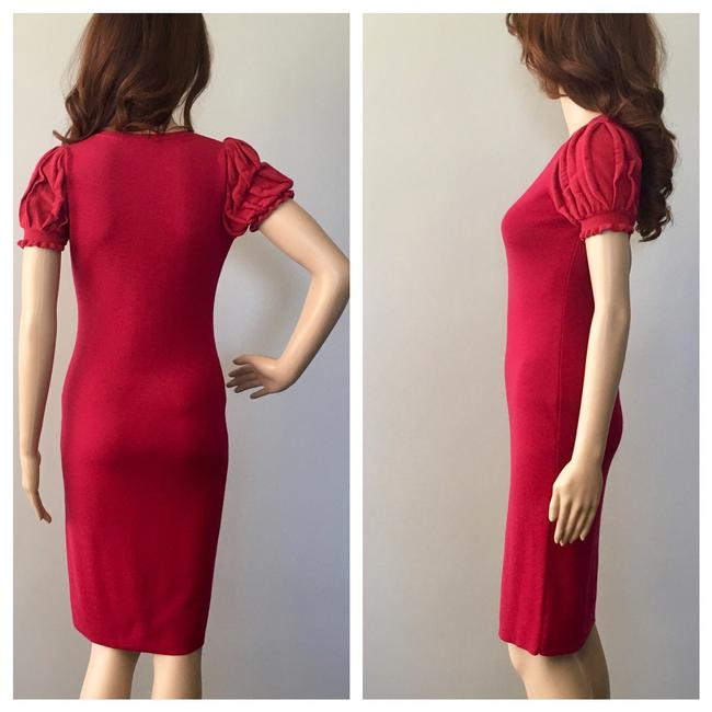 RED Valentino Formfitting Puff Sleeves Dress Image 3