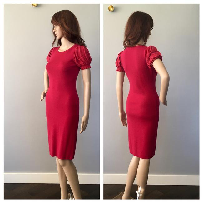 RED Valentino Formfitting Puff Sleeves Dress Image 4